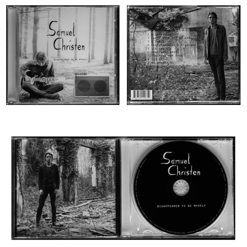 Samuel Christen NEW CD OUT disappeared to be myself, 4 photos of the CD (Cover, Back, and inside )